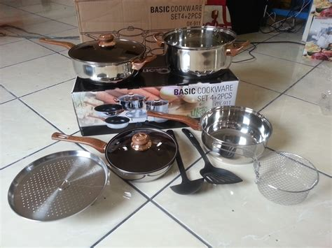 Panci Stainless 20cm By Jiangda99 ox 911 basic cookware panci set oxone 10 in 1 alat masak