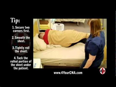 cna and nursing skill training making an occupied bed cna training videos
