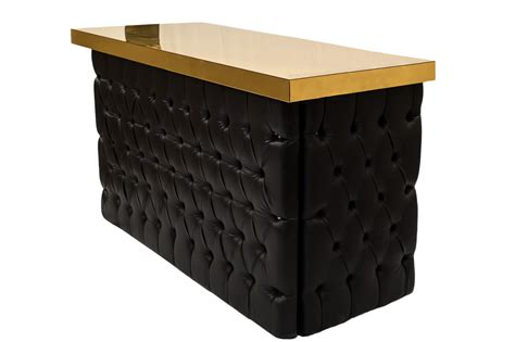 black bar top black tufted gold top bar