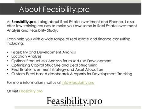 real estate feasibility study template feasibility study template
