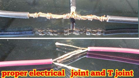 proper joint of electric wire and cable t joint 2018 youtube