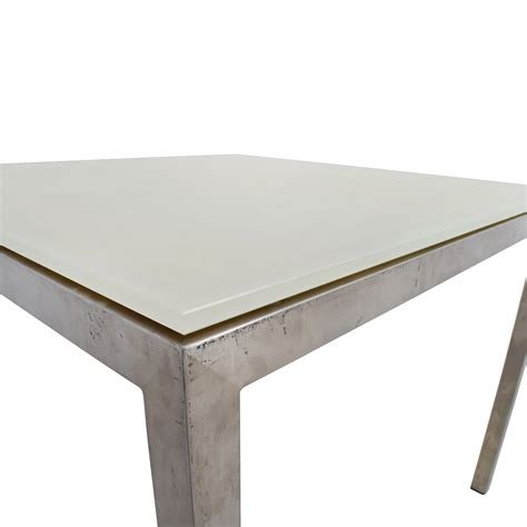 room and board dining tables 76 off room and board room board portia white glass
