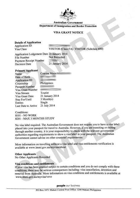 Employment Letter For Australian Visa Application The Travel Junkie How To Apply For Australian Tourist