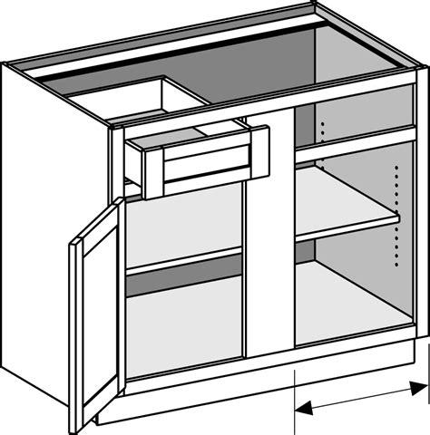 unfinished blind corner base base cabinets joint