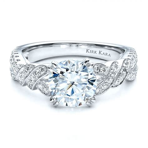 split shank engagement ring with matching wedding