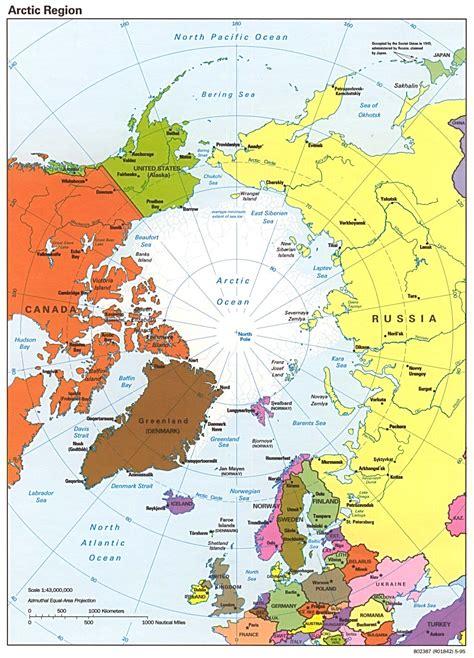 travel maps  arctic oceanarctic region political