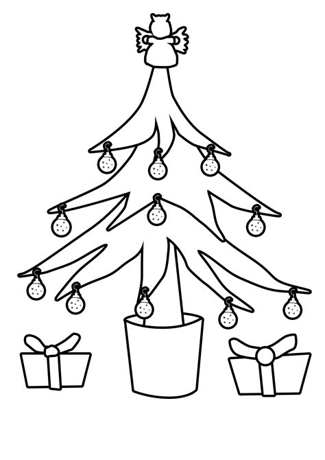 christmas picture outline tree outline clipart best
