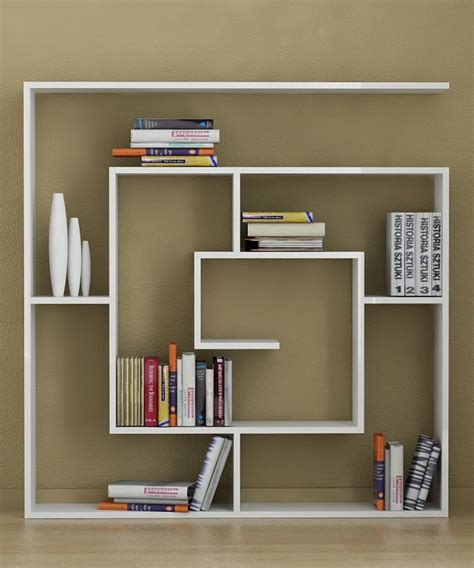 Homemade Bookshelves To Save Your Money Creative White Artistic Bookshelves