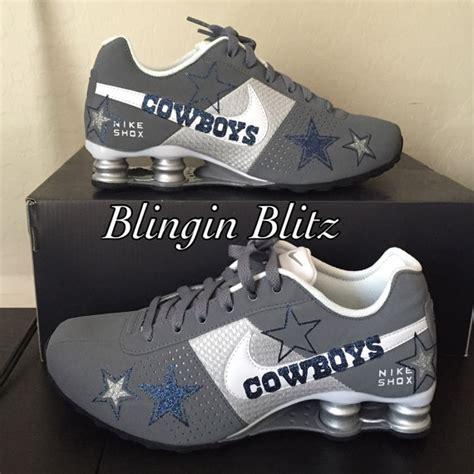 womens glitter dallas cowboys nike shox by blinginblitz on