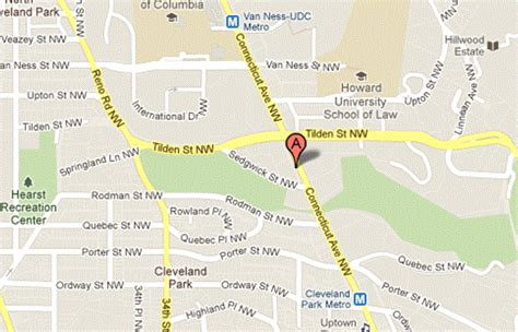 map of current location directions to tilden gardens