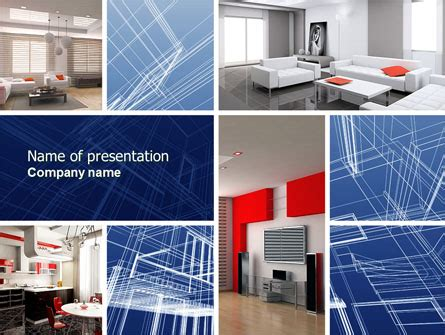 Interior Design In 3d Modeling Powerpoint Template Backgrounds 04699 Poweredtemplate Com Interior Design Presentation Templates