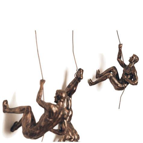 climbing men accent wall decor sculpture