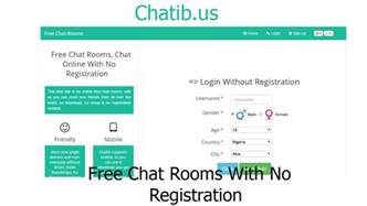 chatib free chat rooms with no registration www chatib