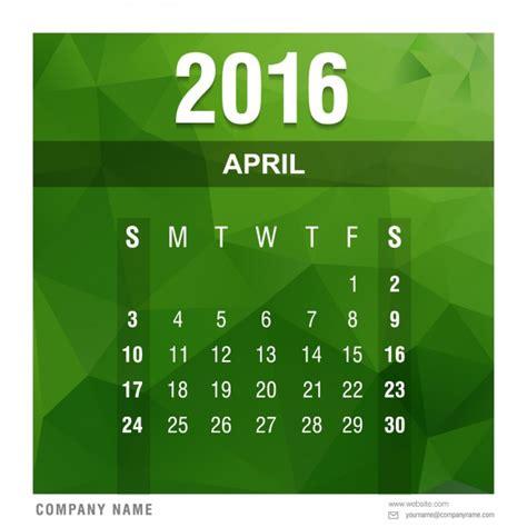 Calendario Ist 2016 Polygonale 2016 Kalender April Der Kostenlosen