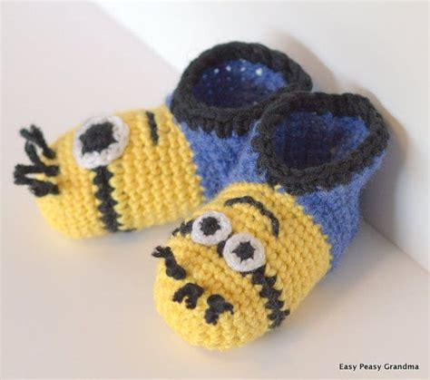 minion crochet slippers minion slippers crafty