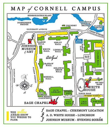 cornell cus map ari lindsay getting to ithaca