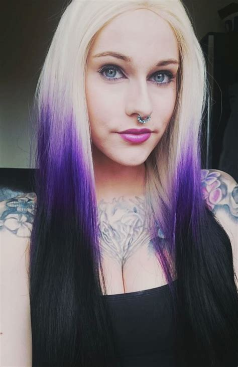 night blonde lush wigs black blonde roots ombre dip sultry lush wigs blonde purple black gradient ombre