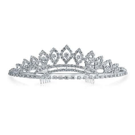 Gift Box For Moment Tiara Aksa Keterilan silver prom homecoming rhinestone bridal tiara