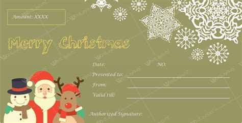 12 Beautiful Christmas Gift Certificate Templates For Word Downloadable Gift Card Templates