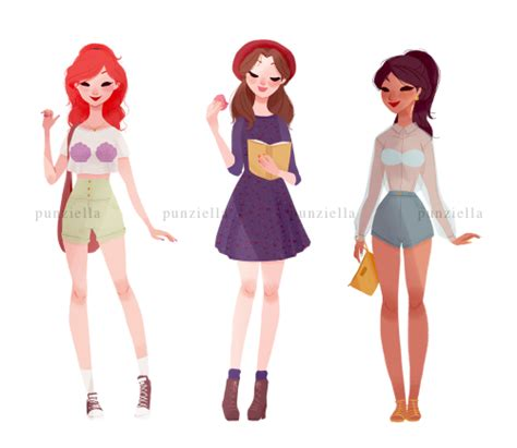 Get Casual disney princesses get casual in artist s series design