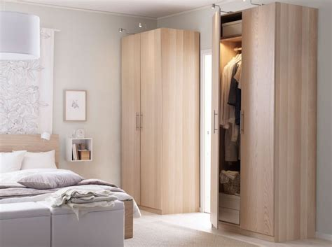 Malm Wardrobes by A Bright Bedroom With Pax Wardrobe And Malm Bed In Light