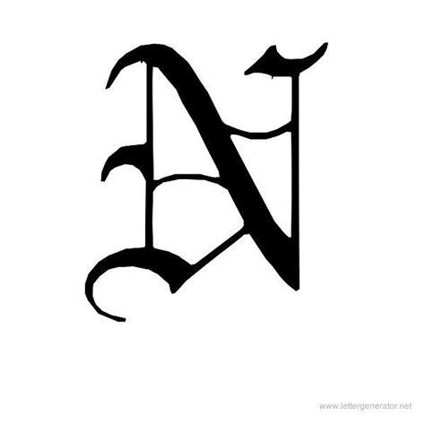 printable old english alphabet letters english gothic printable old english alphabet letter n