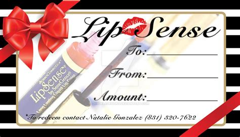 lipsense gift card template lipsense gift certificate by angeladesigns on deviantart