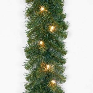 20 ft pre lit noble fir garland with clear lights