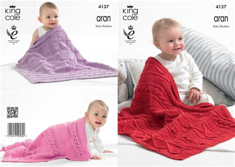 baby aran knitting patterns uk 4137 king cole big value recycled cotton aran baby