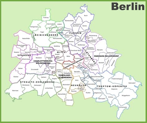 berlin on a world map berlin districts map