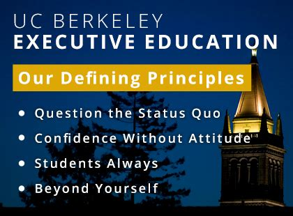 Best Executive Mba Bay Area by Of California Berkeley Berkeley Executive