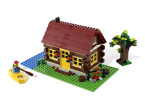 wood lego house log cabin lego shop