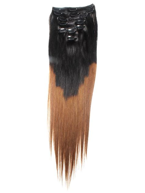 ombre 22inch hair extentions 22 inch auburn and natural black ombre clip in hair
