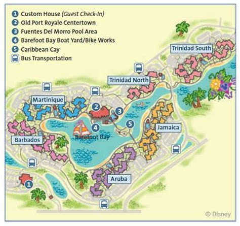 caribbean resort map disney s caribbean resort map disney 2013 family