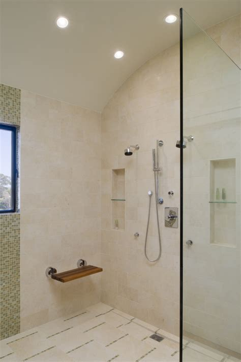 height of bathtub from floor shower bench height bathroom contemporary with double