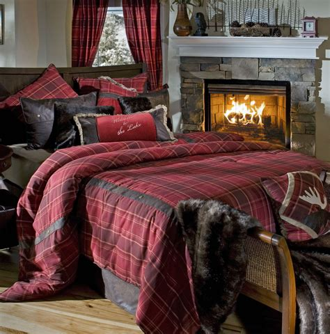 lodge comforter sagamore lake plaid by carstens lodge bedding