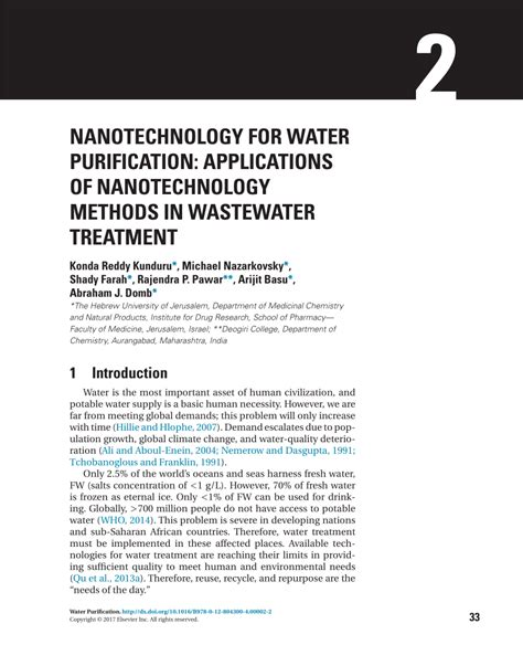 water treatment research papers nanotechnology for water purification pdf