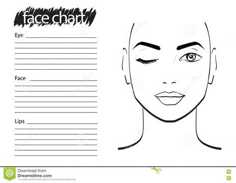 Face Chart Makeup Artist Blank Stock Illustration Illustration Of Face Chart 74556377 Makeup Chart Template