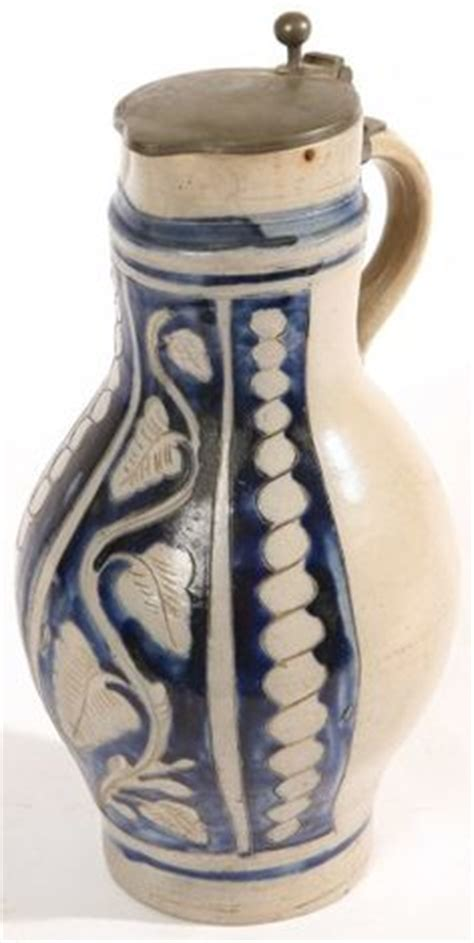 Pitcher 4liter by Pottery On Stoneware Cobalt And Pewter