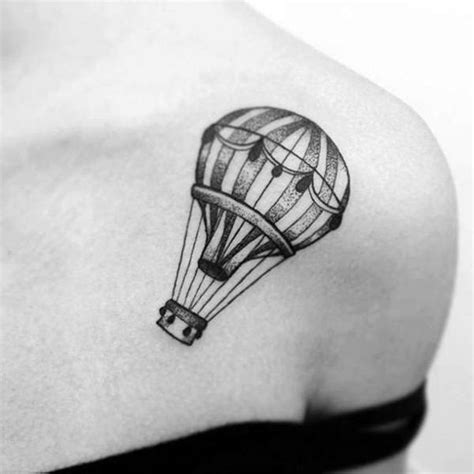 small balloon tattoo 45 air balloon designs air balloon