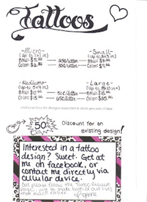 Tattoo Prices Reading | femme arts tattoos prices how to request designs