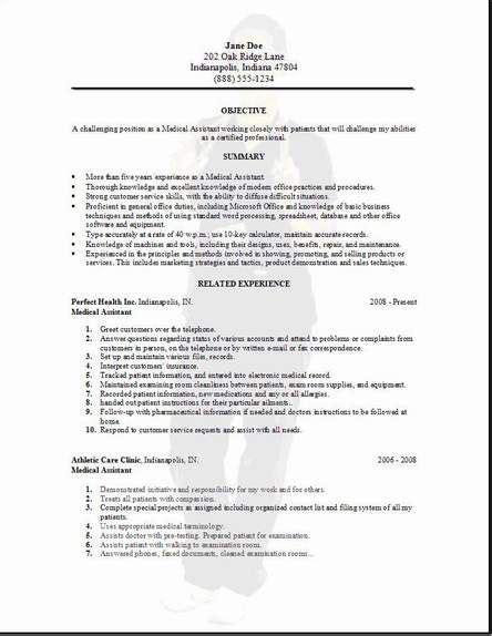 medical assistant resume sles free medical assistant