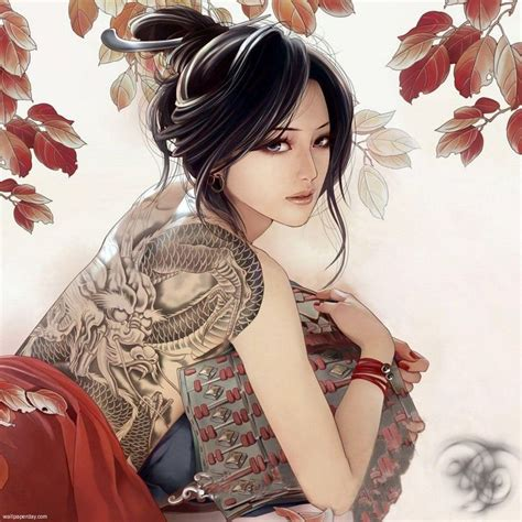yakuza tattoo lady yakuza lady cerca con google somethings pinterest