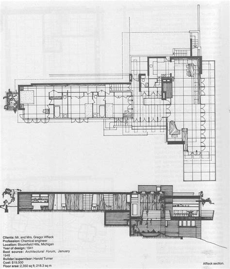 frank lloyd wright usonian floor plans 351 best images about wright on pinterest usonian image