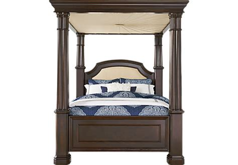 bedroom sets with canopy beds dumont cherry 5 pc king canopy bed beds dark wood