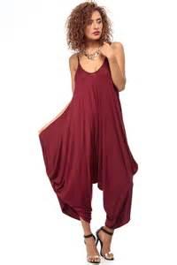 burgundy over sized harem jumpsuit cicihot dresses