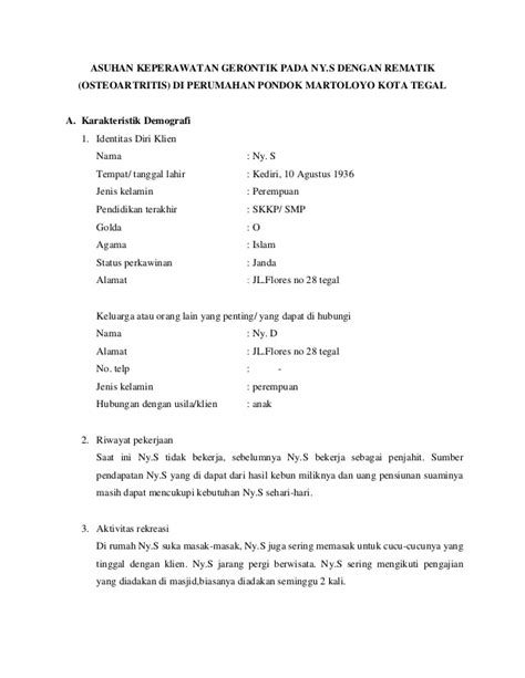 contoh format askep gawat darurat format evaluasi asuhan keperawatan asuhan keperawatan gerontik