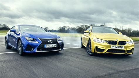 lexus bmw bmw m4 vs lexus rc f fight