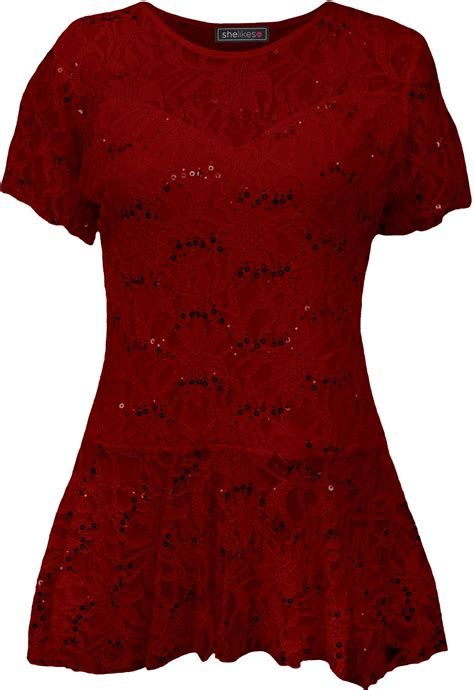 Pattern Frill Floral Top by Womens Floral Pattern Sleeve Flared Peplum Frill