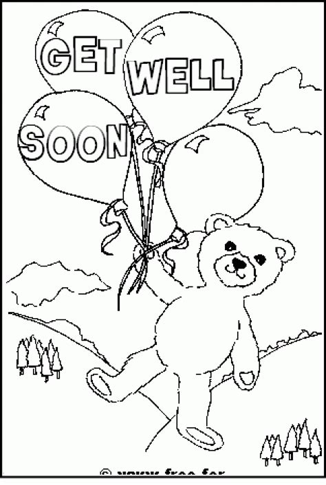 get templates for pages get well coloring pages